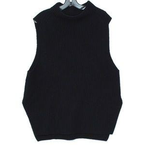 Trouve Womens Sweater Sleeveless Black Large C2